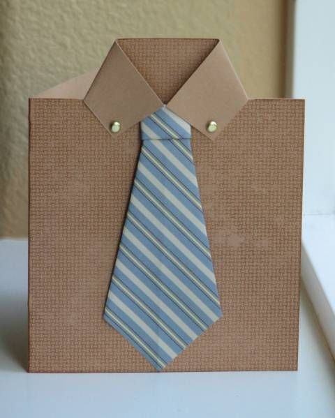 shirt and tie craft for father's day