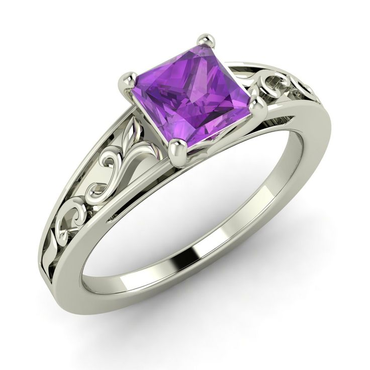 ... +Princesscut+Natural+Amethyst+by+Diamondere+on+Etsy,+275.00