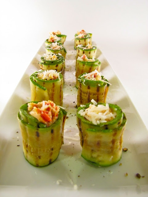 Grilled zucchini rollatini 3 med zucchini ends removed 2 tbsp evoo