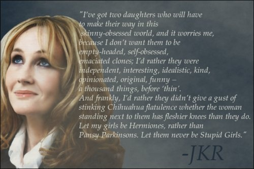 Rowling with an incredible quote about her daughters
