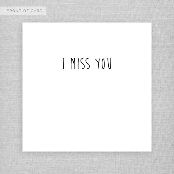 Just for you card. I miss you. Cute, sweet card for a boyfriend, girl ...