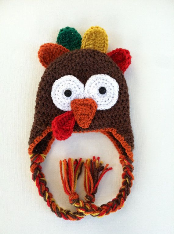 Crochet Turkey Cat Hat Pattern : Crochet Thanksgiving Turkey Hat