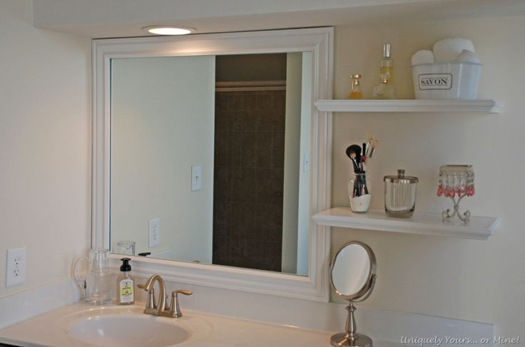 How to frame a bathroom mirror Bathroom