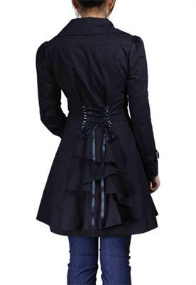 Steampunk Black Bustle Corset Jacket | Beth | Pinterest
