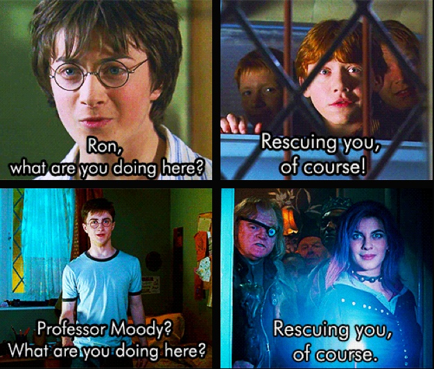 """""""Rescuing you, of course!""""   Caught that:)"""