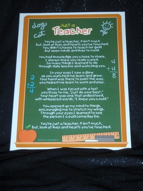 Teacher feel-good poem | too cute not to pin! | Pinterest