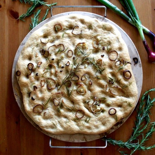 Rosemary Onion Focaccia | Recipes I want to try | Pinterest