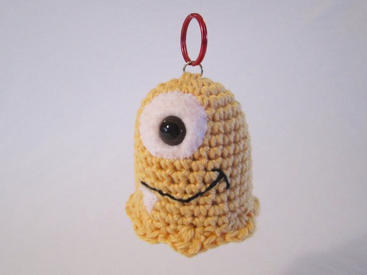 Crochet Amigurumi Ring : Friendly Monster Keychain Pal - handmade crochet amigurumi ...
