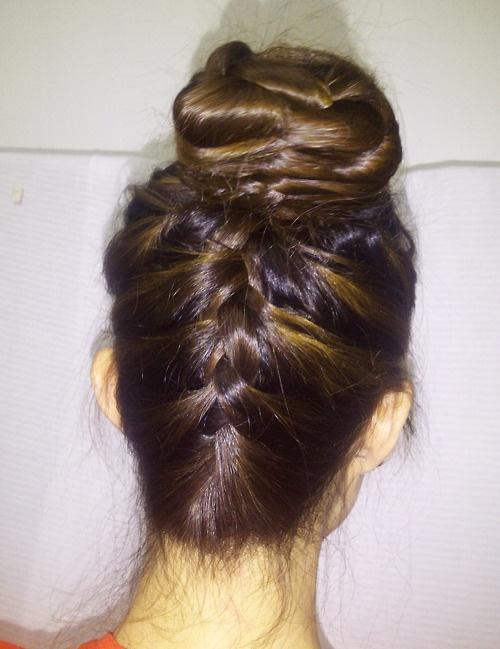 Inverted Braid | Short Hairstyle 2013