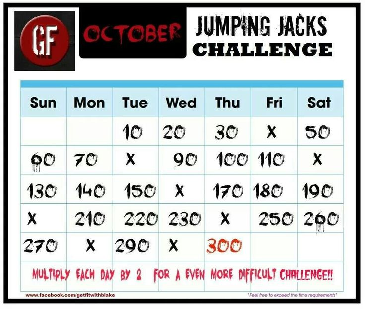 Jumping jack challenge | Fitness | Pinterest