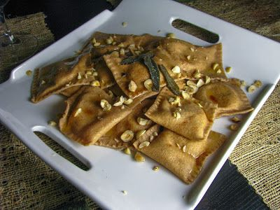 ... sweet potato amp mascarpone ravioli with browned butter amp fried sage