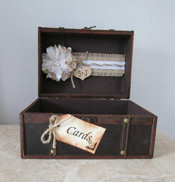 Rustic Wedding Gift Card Holder : ... Card HolderRustic Card BoxCard BoxBurlap Wedding- Gift Table