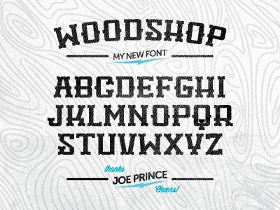 Free Woodshop Font by Nick Slater #freebie