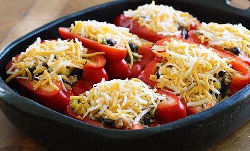 Santa-Fe-Turkey-Stuffed-Pepper-Recipe4 | Recipes | Pinterest