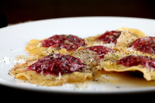 Beet and Ricotta Ravioli with Brown Butter and Poppy Seeds (V) - via ...
