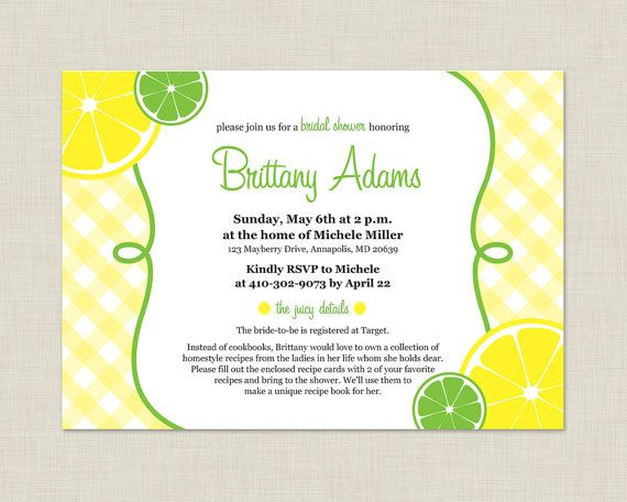 Lemon Bridal Shower Invitation / Summer Invitation on Etsy, $15.00