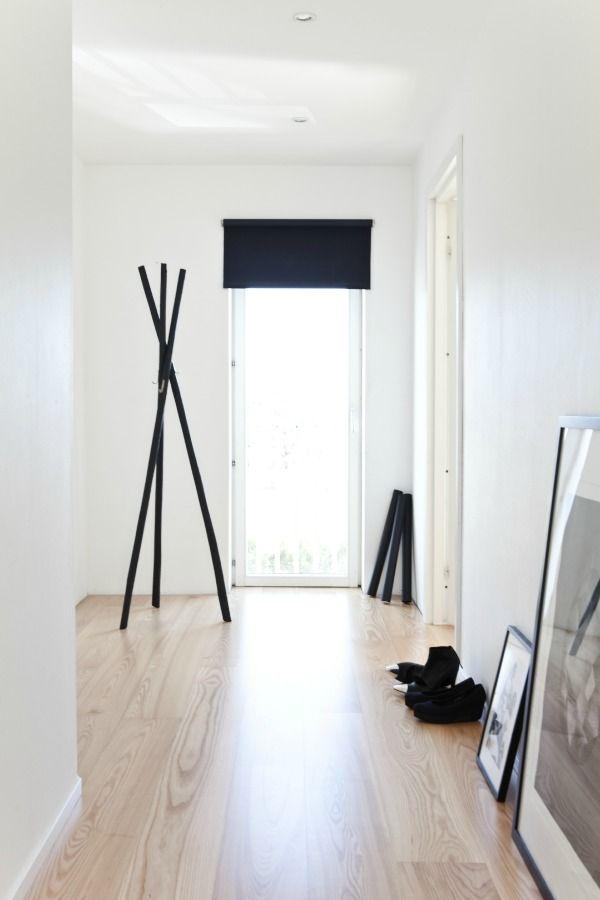black wooden hanger