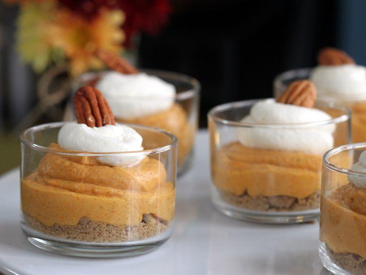 Pumpkin Pecan Cheesecake Pots | Foods - Desserts - Misc. | Pinterest