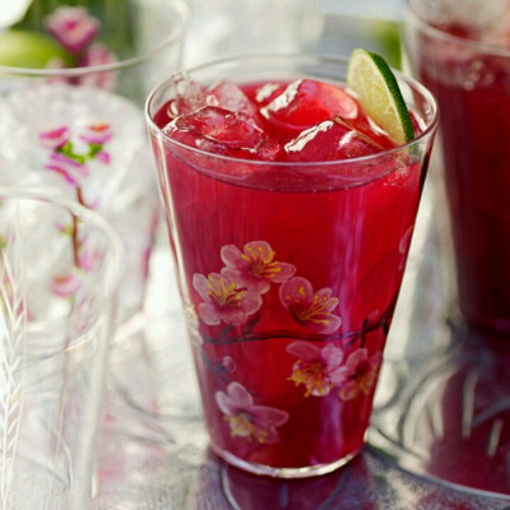 Hibiscus tea with vodka and citrus | Stuff to Try | Pinterest