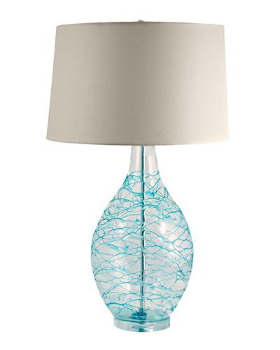 lamp works glass hand blown table lamp teal turquoise tiffany aq. Black Bedroom Furniture Sets. Home Design Ideas