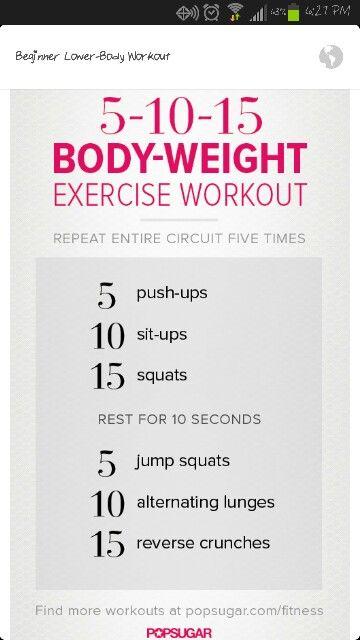 Beginner CrossFit Workout Fitness Pinterest