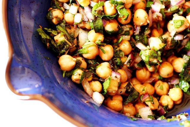 Chickpea Salad with Cumin Vinaigrette | Food | Pinterest