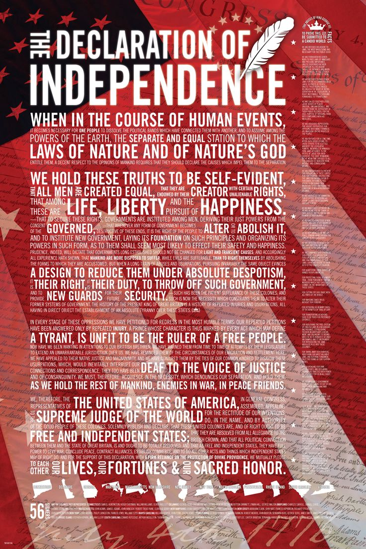 united states declaration of independence The united states declaration of independence we hold these truths to be self-evident, that all men are created equal, that they are endowed by their creator with certain unalienable rights, that among these are.