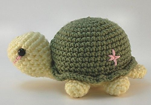 Crocheted Turtle Sammie the Cute Turtle