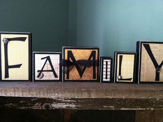 family home decor wood word blocks letter sign home decor word blocks home custom letters mantel living room
