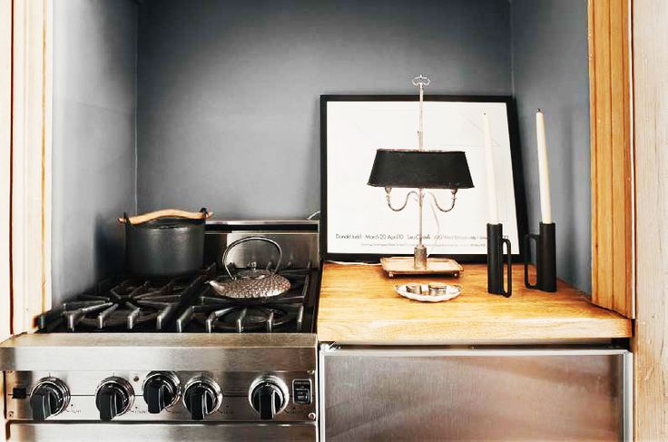 The Most Sophisticated Studio Apartment You've Ever Seen// micro kitchen, small kitchen