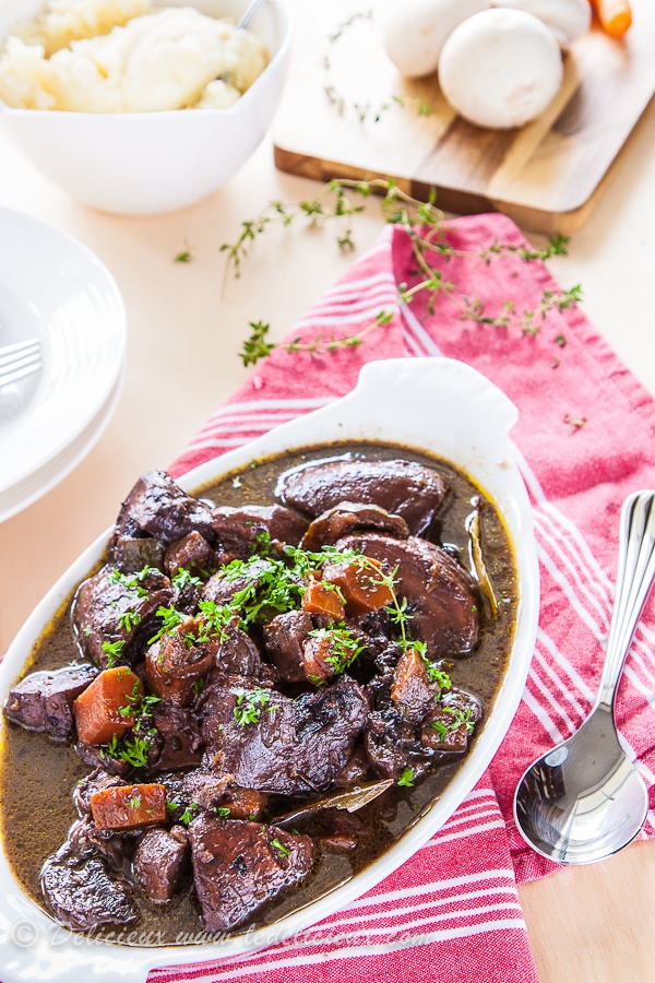 Mushroom Bourguignon - a wonderful Vegetarian option! Perfect for a ...