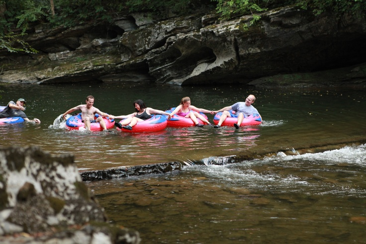 Listed in the book 100 Secrets of the Smokies, the River Romp in Sevierville, Tennessee is definitely a best-kept secret! The River Romp is relaxing way to soak in the natural beauty of the area as you tube down Little Pigeon River.  Behind-the-scenes shot from Getting Away Together, a new travel show for PBS member stations