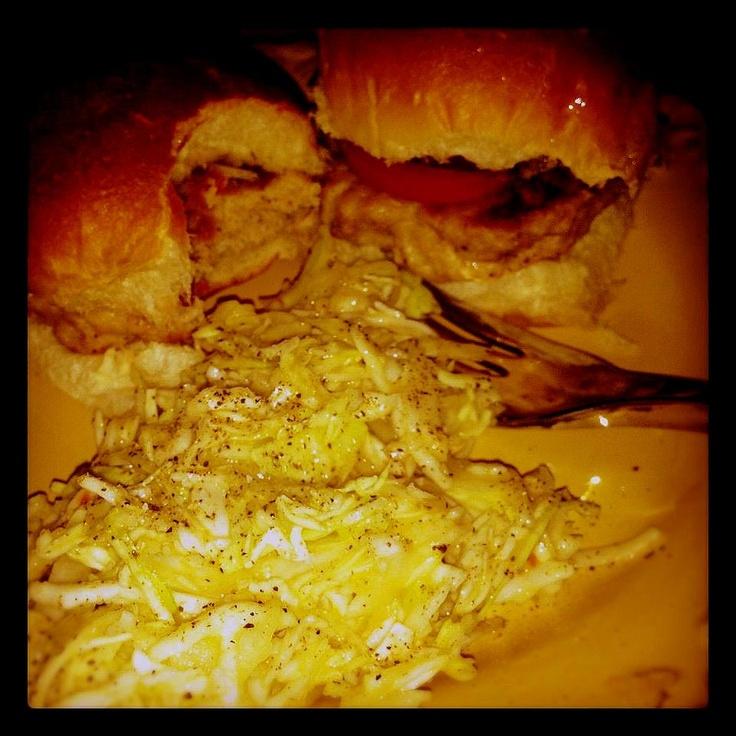 Chicken Sliders w/ Mango Slaw | Food | Pinterest