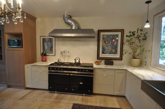 cabinets = BM Natural Cream, which is described as Edgecomb Gray