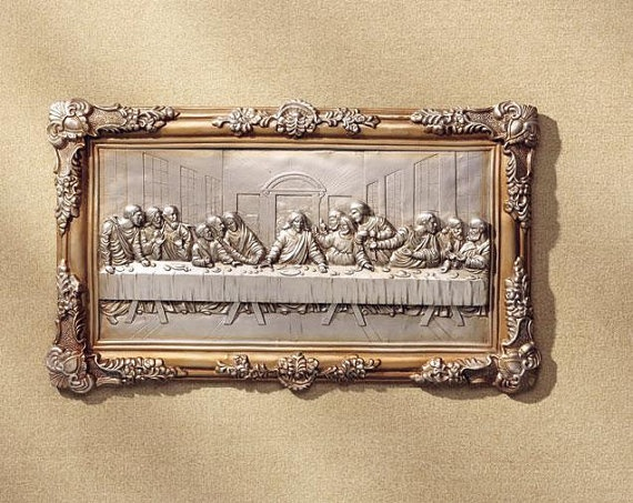 beautiful religious wall decor the last supper. Black Bedroom Furniture Sets. Home Design Ideas