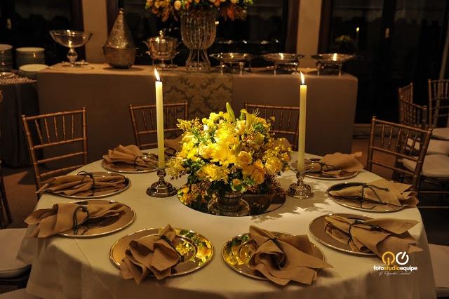 Decoração em amarelo  Casamento  Decor  Pinterest