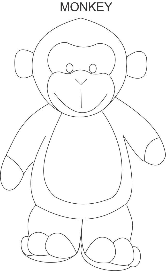 monkey coloring pages for kids - photo#35