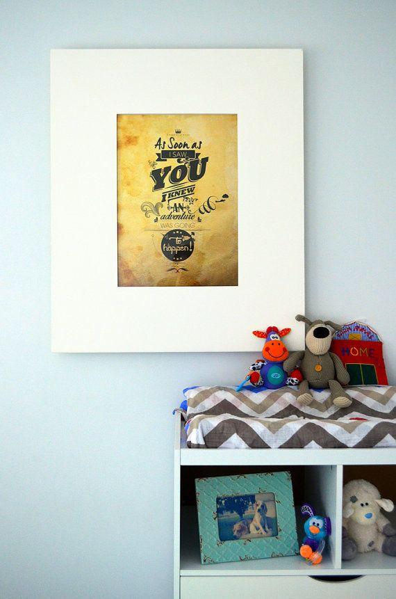 Rustic nursery quotes : ... print & rustic nursery art. winnie the pooh quote -