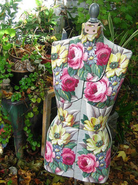 Barkcloth Крытая Vintage форма платья