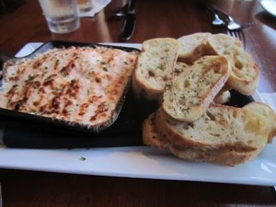 Crab & Shrimp Fondue w/ grilled baguette slices. Had this at ...