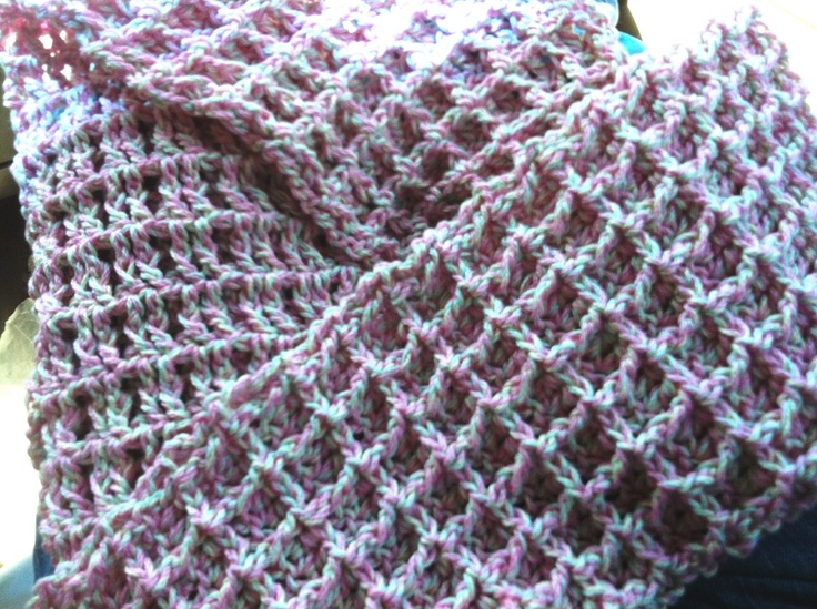 Waffle Stitch scarf, really easy to do