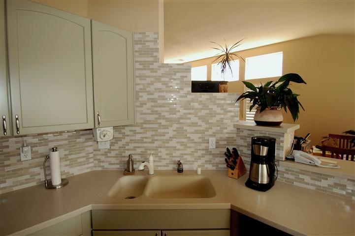 small glass tile backsplash my house pinterest