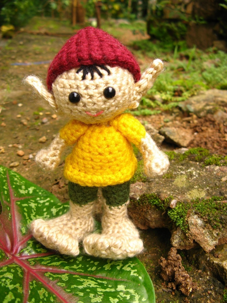 Tutorial Elfi Amigurumi : Amigurumi Elf - Crochet Pattern Christmas Pinterest