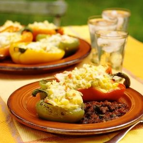 Polenta Stuffed Roasted Peppers recipe | Eat Your Veggies (and Fruit ...