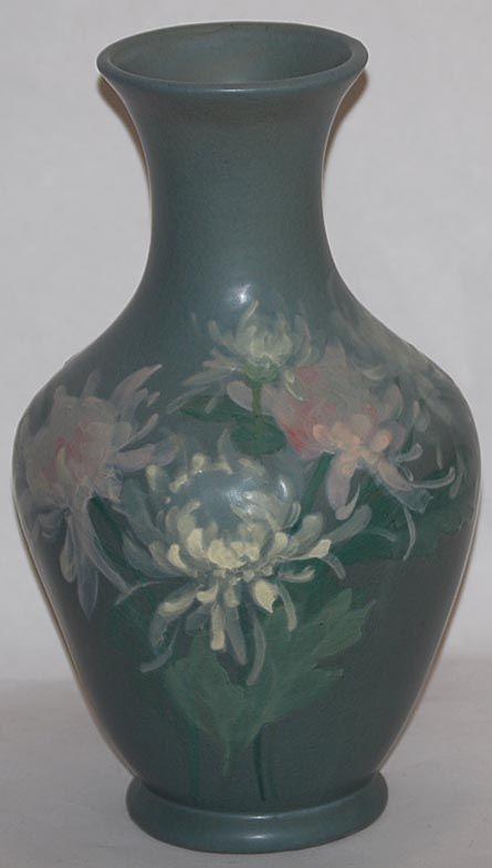 Weller Pottery Hudson Floral Vase   Pottery And Ceramics ...
