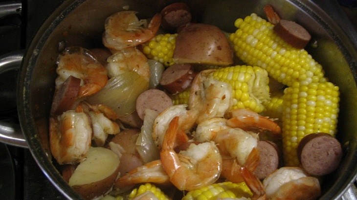 Frogmore Stew - be sure to check the seasoning and sausage that it is ...