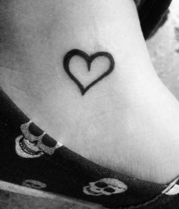 Heart ankle tattoo | Tattoosπercings | Pinterest