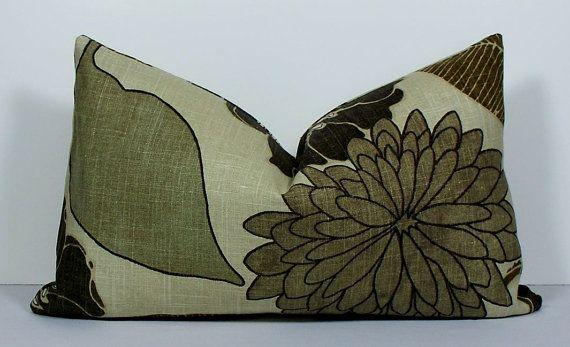 chairs linen floral designer lumbar pillow cover decorative pillow