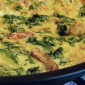 Bacon Swiss Chard Frittata Recipe | foods | Pinterest