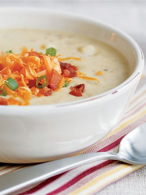 Baked Potato and Leek Soup with Cheddar and Bacon from iVillage PS
